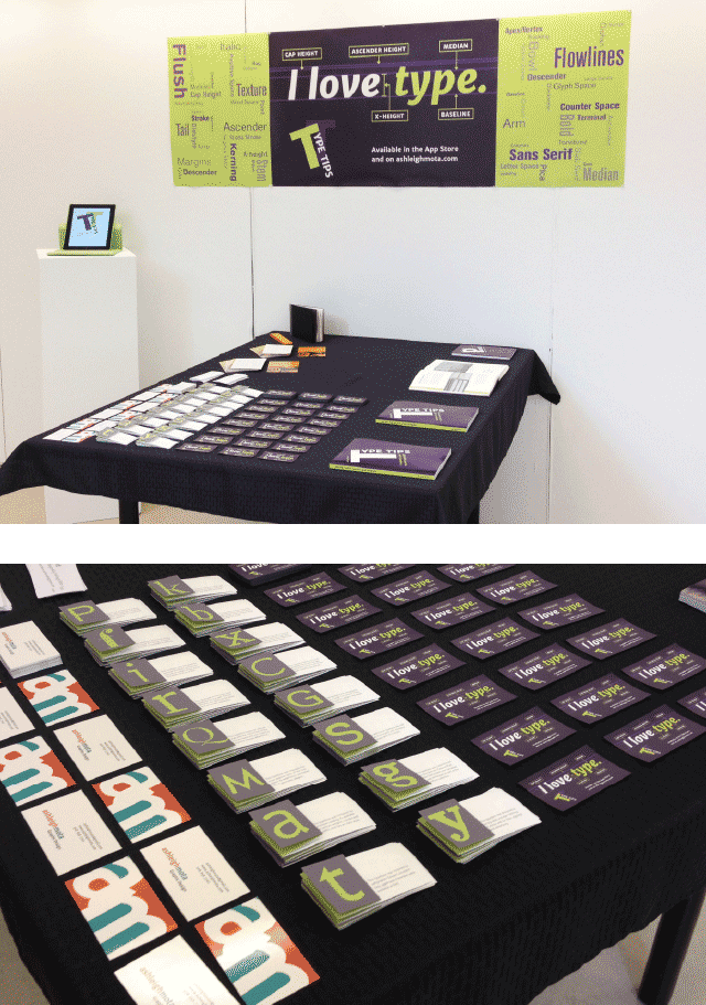the exhibition space for Type Tips
