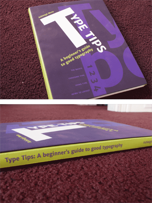 Type Tips: final hand printed and bound book