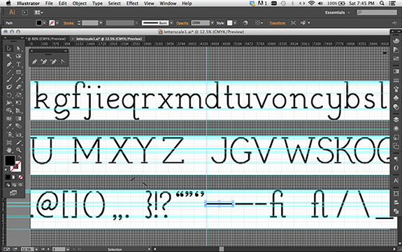 Vectorzing letters in Illustrator