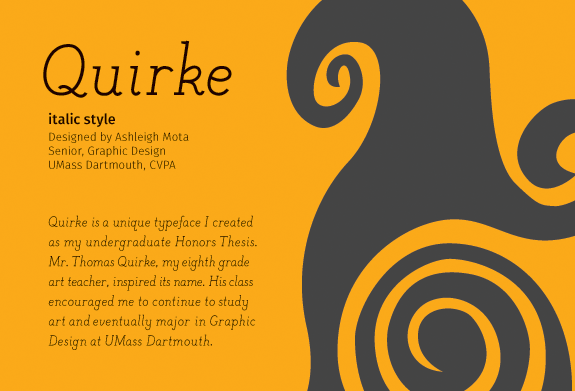 Quirke card italic front