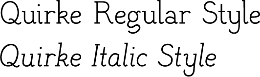 Quirke and Quirke Italic styles