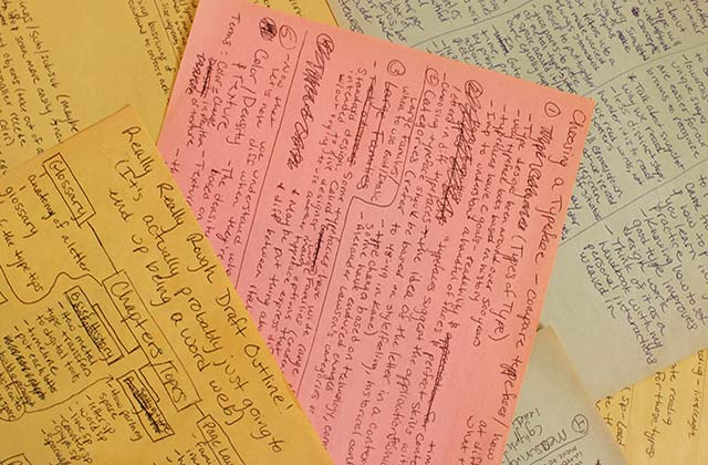 pages of research notes