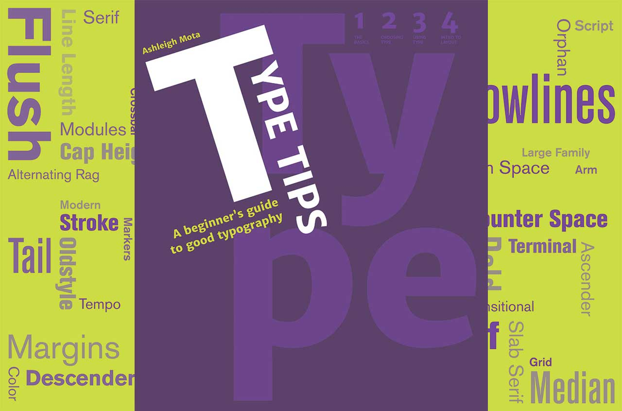 Type Tips: a beginner's guide to good typography cover and endsheets